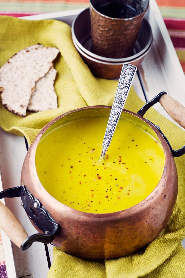 Crema de puerro con azafr n y pan en cocotte con polenta un dos por uno muy invernal - Cocinar en cocotte ...