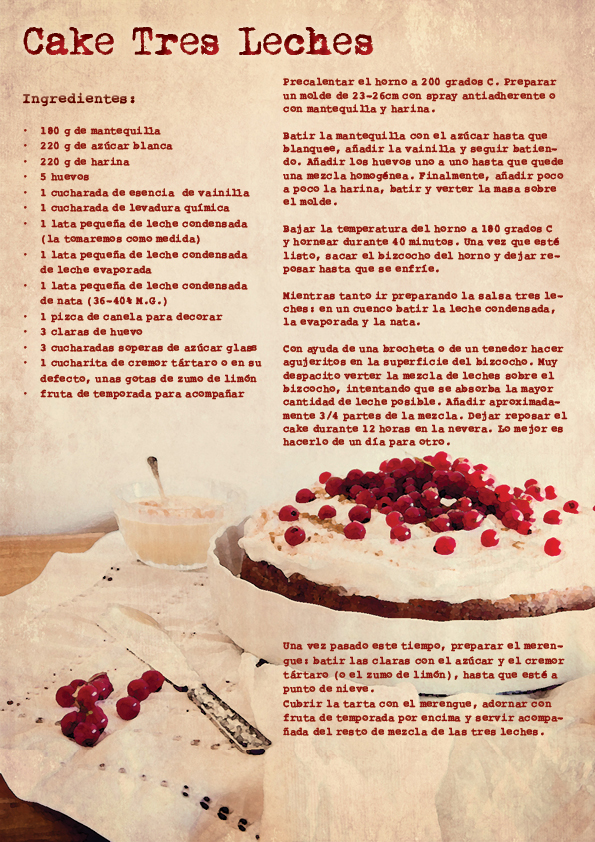 Cake tres leches