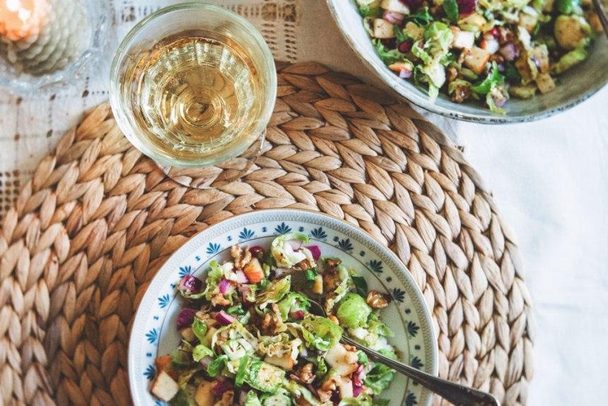 ensalada invernal de coles de bruselas