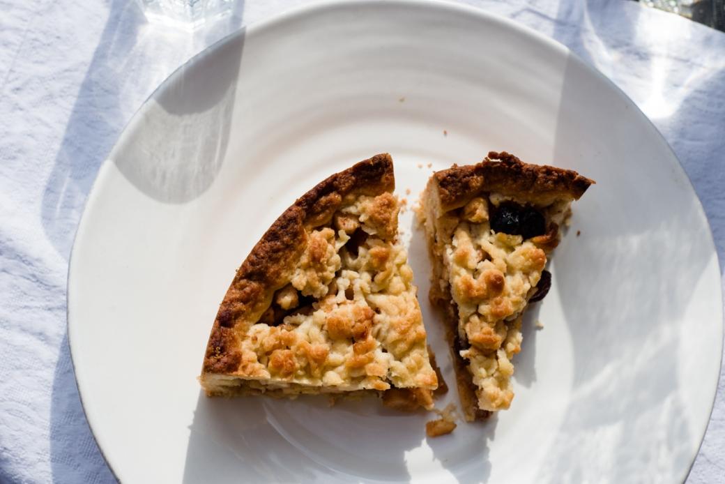 tarta holandesa de manzana y pera